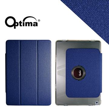 Optima iPad Air Smart 360 亞麻紋保護套 - 藍色