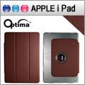 Optima iPad Air Smart 360 亞麻紋保護套 - 深褐色