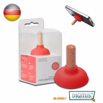曜兆DIGITUS手機平板木質吸盤組合式站立架紅色