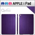 Optima iPad Air 2 義大利皮革多角度保護套 - 針織系列 - 紫