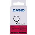 CASIO 標籤機專用特殊色帶-9mm【瑩光色材質】瑩光桃紅底黑字XR-9FPK(5.5公尺)