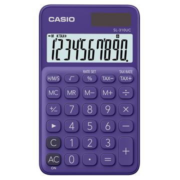 【CASIO 】10位元浪漫馬卡龍口袋型計算機-葡萄紫 (SL-310UC-PL)