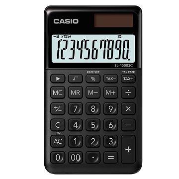 【CASIO】10位元璀璨風格攜帶型計算機-宇宙黑 (SL-1000SC-BK)