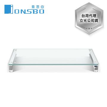 JONSBO鋁合金白光螢幕架 全鋼化玻璃
