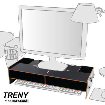 TRENY 加厚基本-電腦螢幕增高架-黑