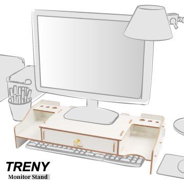 TRENY 加厚【大抽】-電腦螢幕增高架-白
