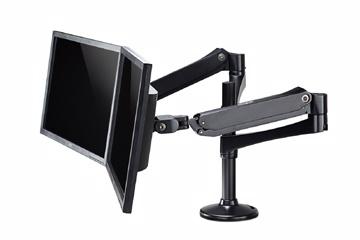 14'~27' 桌上型雙節雙螢幕鋁合金旋臂桌架 螢幕支架 螢幕立架