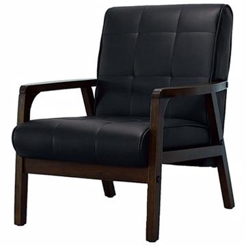 【Yoi 傢俱】洛德單人沙發椅(黑)