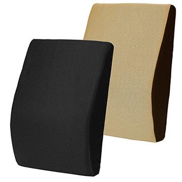 【源之氣】竹炭記憶透氣腰靠墊/兩色可選(黑/米咖)/下背釋壓 RM-9444
