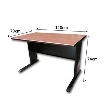 【豐盛鐵櫃】時尚高級木紋OA辦公桌 (可調式桌腳) 尊爵黑