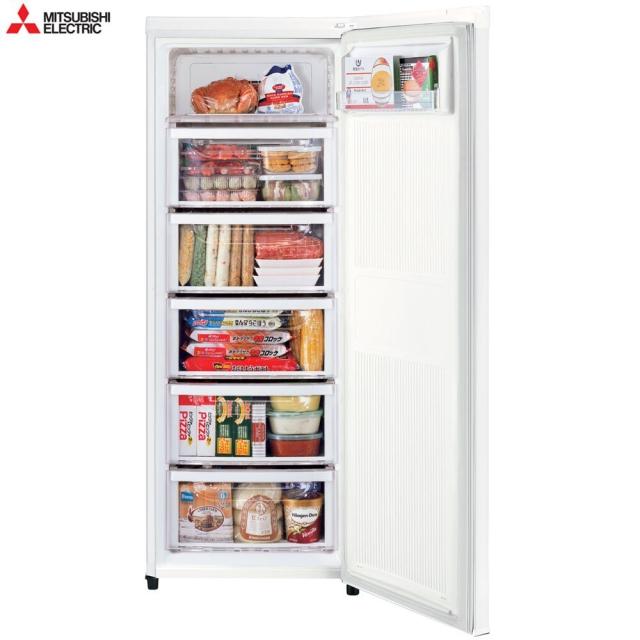 【MITSUBISHI 三菱】144L 泰製直立式冷凍櫃 純淨白 MF-U14P-W-C (無基本安裝)