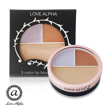 【 LOVE ALPHA 】綜合三色提亮修飾遮瑕膏 12g/盒