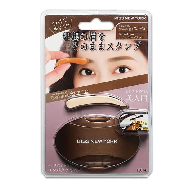 【美國 KISS New York】眉毛印章2.0升級版-淺棕自然挑眉款(KBS14J) 4g/ 入