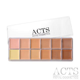 ACTS 維詩彩妝 淨透無瑕12色專業粉底膏盤