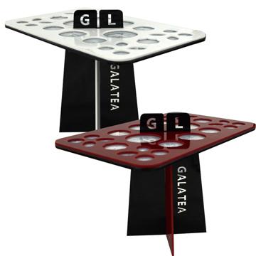 Galatea葛拉蒂26孔刷具晾曬架-紅黑