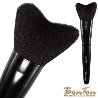 BonTon 墨黑系列 M形修容刷(大) LBLF01頂級光峰羊毛