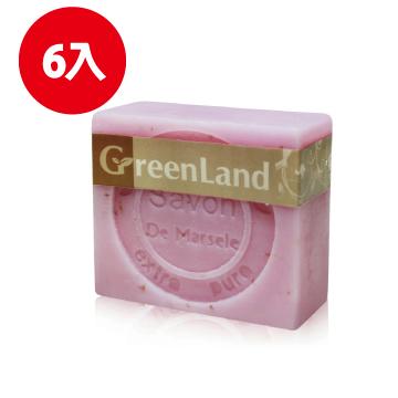 GreenLand法式絲滑平衡玫瑰馬賽皂90g(6入)