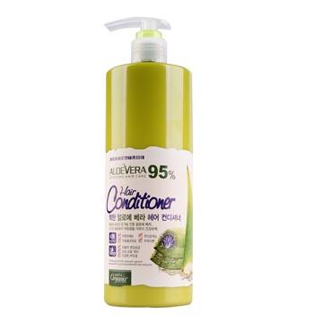《韓國Organia歐格妮亞》蘆薈95%柔順保濕護髮素1500ml