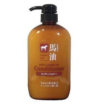 日本 KUM熊野馬油潤髮乳600ml*1入