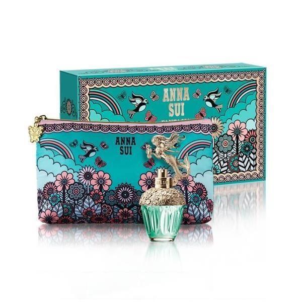 【南紡購物中心】 ANNA SUI 美人魚童話禮盒 (淡香水30ml+愛情鳥化妝包)