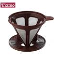 Tiamo 極細濾網 附轉接盤-咖啡色(HG2320)