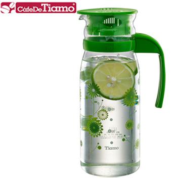 Tiamo 1215玻璃冷水壺 1200ml-花草綠(HG2108)