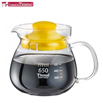 Tiamo 耐熱玻璃壺650cc(玻璃把手)-五色(HG2202)