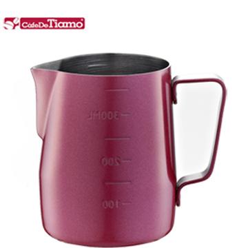Tiamo 專業內外刻度不鏽鋼拉花杯360cc-不沾塗層(HC7086)