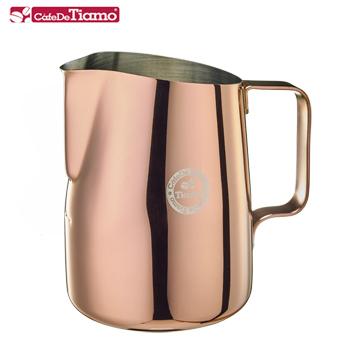 Tiamo 1503B不鏽鋼斜口拉花杯尖口650cc-玫瑰金 (HC7110BZ)