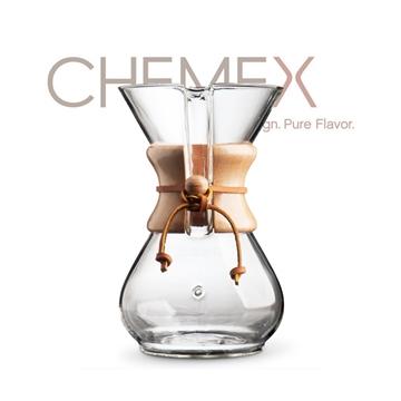 【美國】Chemex 經典手沖玻璃咖啡濾壺(約600ml)