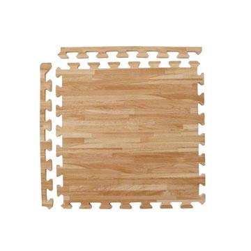 【新生活家】EVA耐磨拼花木紋附收邊45x45x1.2cm4P淺色