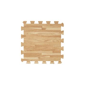 【新生活家】EVA耐磨拼花木紋地墊-淺色32x32x1cm 6入