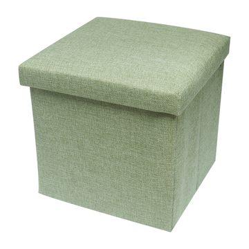 耐重簡約麻布收納椅31cm(綠色)