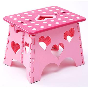 親親寶貝獨家專利設計愛心粉彩防滑折疊椅/摺疊凳/堅固耐用30*23*22cm