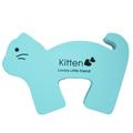 【BabyTiger虎兒寶】動物造型幼兒安全防護門擋/門夾/門卡(藍色淘氣貓)