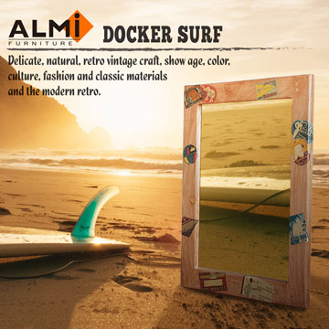 【ALMI】DOCKER SURF- MIRROR 60x80 造型掛鏡