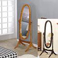 【AAA】實木橢圓立鏡/穿衣鏡(兩色可選)