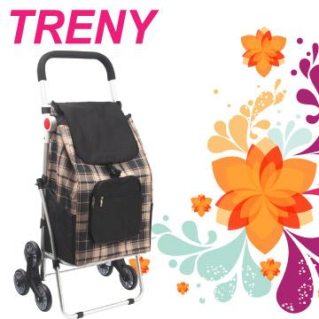 TRENY 鋁合金購物車 - 黑格