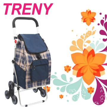 TRENY 鋁合金購物車 - 藍格