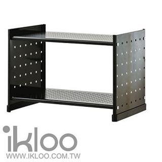 【ikloo】貴族風可延伸式組合書架(黑色)1入組