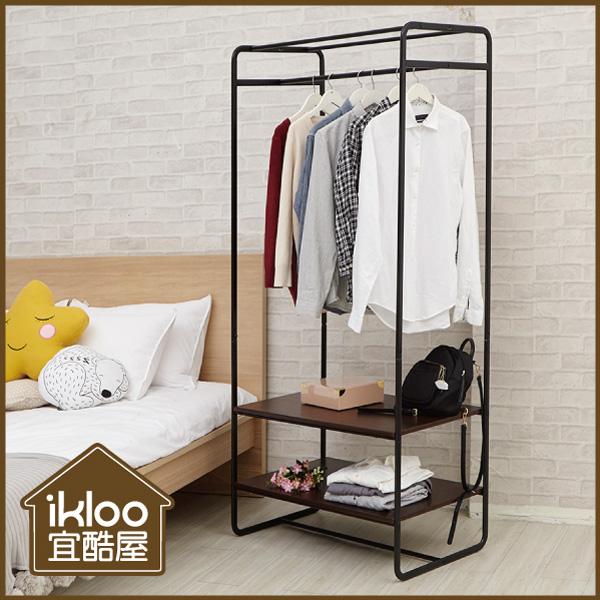 【ikloo】工業風雙層重型衣架