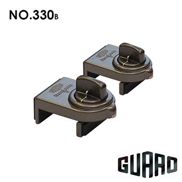 日本【GUARD】確保型門窗輔助安全鎖#330B(棕色)(2入)