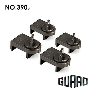 日本【GUARD】簡易門窗輔助安全鎖#390B(棕色)(4入)
