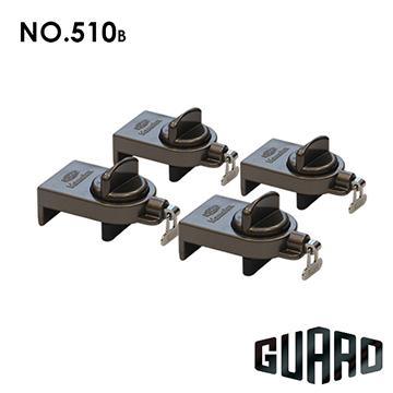 日本【GUARD】雙重保險門窗輔助安全鎖#510B(棕色)(4入)