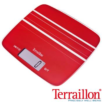 【法國Terraillon】法國耐壓玻璃板料理電子秤-艷麗紅(MY COOK 15 )