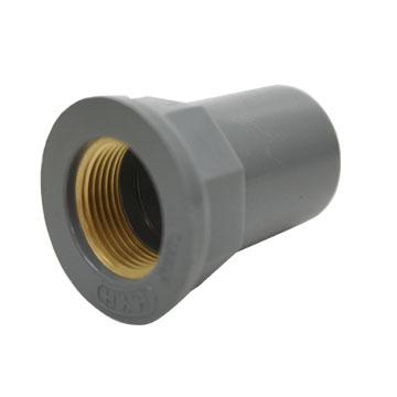 塑膠直接龍口-入銅6分