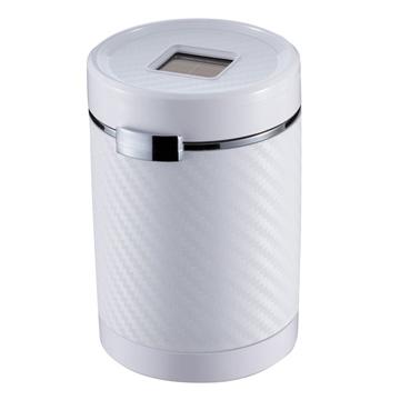 【禾宜精品】菸灰缸 NAPOLEX Fizz-1022 碳纖白 車用 太陽能充電 LED 藍光 夜間感應