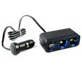 YAC 12V延長線兩孔附USB插座 (PZ-610)
