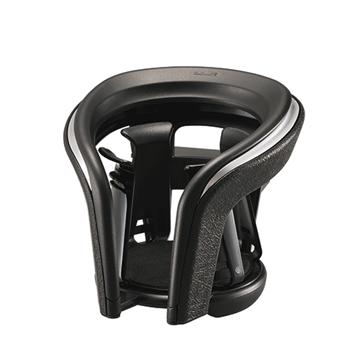 日本CARMATE皮革調冷氣孔杯架黑銀DZ372