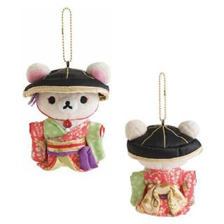 Rilakkuma拉拉熊歌舞伎第二彈限定毛絨吊飾。懶妹款